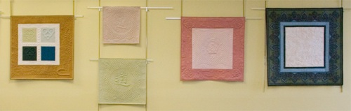 Diane's quilts on display at the NEQM Museum Shop