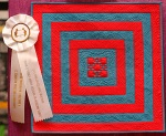 Square in Square I - Miniature -2011 Houston International Quilt Show winner by Diane Loomis