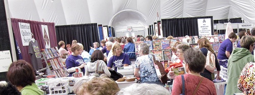Inside the Pavilion at the AQS Paducah Quilt Show 2011