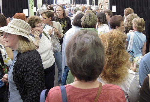 Crowds in the Pavilion at the AQS Paducah 2011 Quilt Show