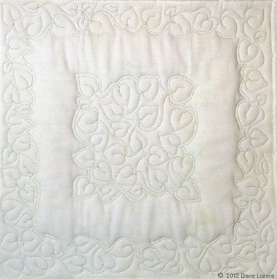 January sample for the 2012 Free-Motion Quilting Challenge