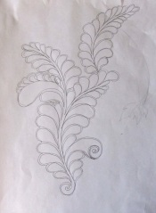 First feather plume sketch
