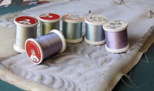 Silk thread choices for free motion quilting