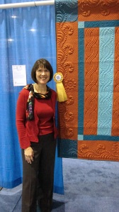 Five Bar Blues by Diane Loomis Winner MQX East Large Wall Traditional Quilts