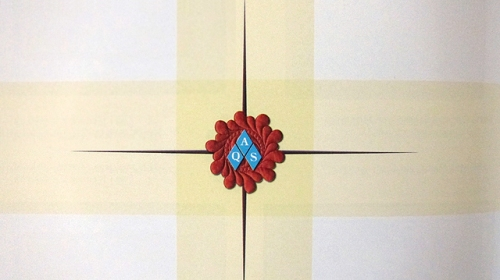 Feathered Wreath from border of Five Bar Blues award winning quilt by Diane Loomis