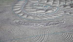 silver circles on the Silver Anniversay Quilt Challenge for the NEQM by Diane Loomis
