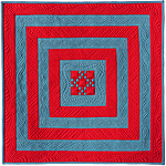 Square in Square I award winning miniature quilt by Diane Loomis
