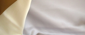 Silver silk sateen fabric